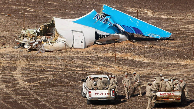 Wreckage of a Russian passenger plane that crashed in the Sinai in October. (Photo: AP)
