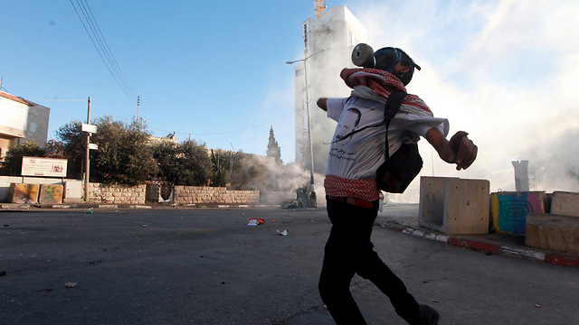 Palestinian riots in Bethlehem (Photo: Reuters)