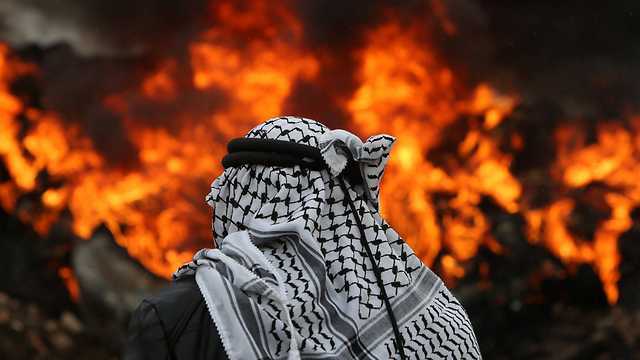 Clashes between Palestinians and Israeli security forces in Kfar Qaddum near Nablus (Photo: AFP)