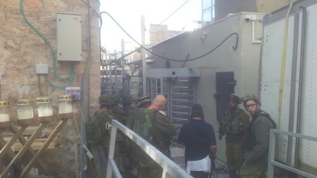 Scene of the Hebron attempted stabbing (Photo: TPS)