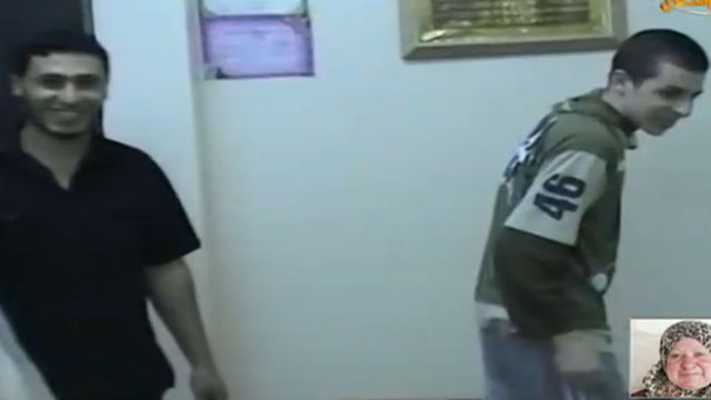 A still from a new video showing Gilad Shalit during his period of captivity in the Gaza Strip