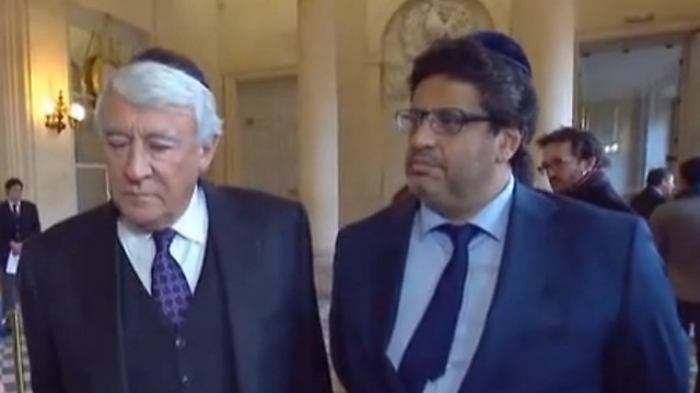 Goasguen (right) and Habib (left) at the National Assembly.