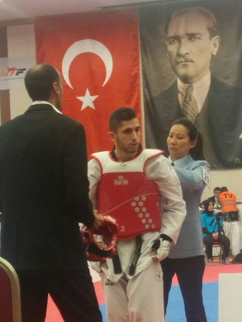 Ron Attias competing at the Olympic qualifying tournament in Istanbul