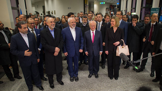 All smiles on 'Implementation Day' in Vienna (Photo: EPA) (Photo: EPA)