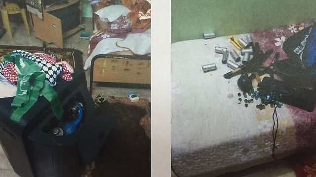 Weapons and materials found in the sisters' home
