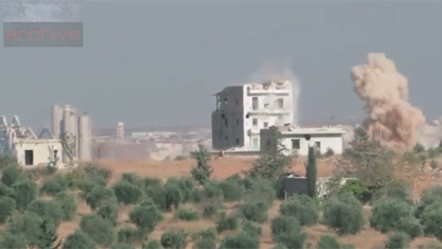Chemical weapons being used by a rebel group in Syria