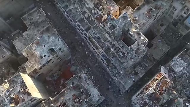 Ruins in Homs, Syria