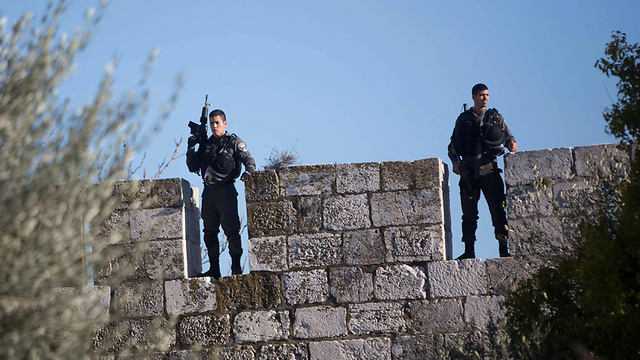 Border Police at the Damascus Gate (Photo: AFP) (Photo: AFP)