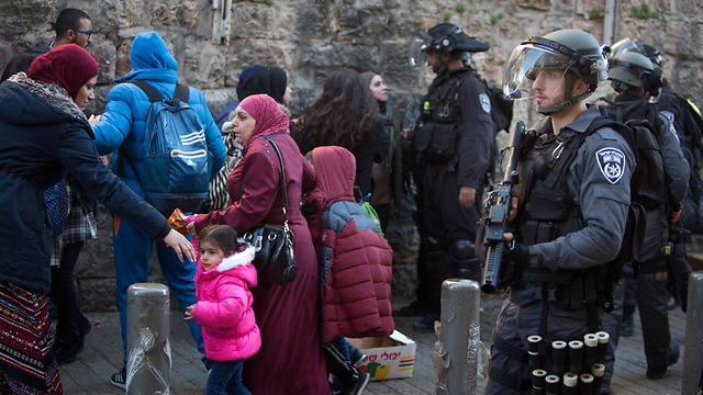 Border Police at the Damascus Gate (Photo: AFP)