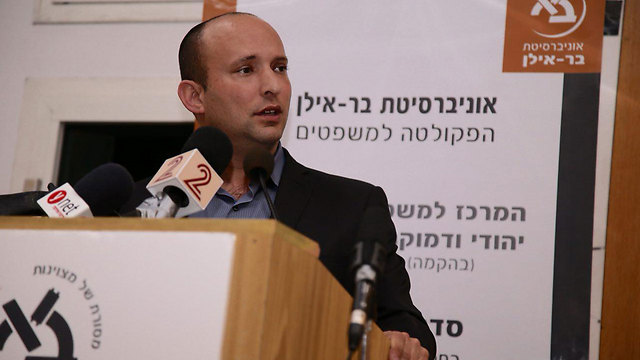 """Education Minister Bennett. """"I am calling out to the Arab public: You are better than this."""" (Photo: Motti Kimchi)"""