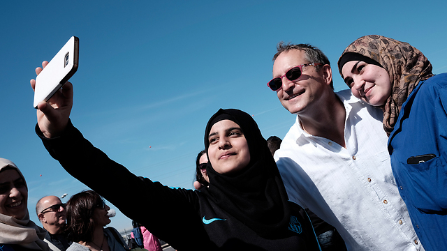 Selfie with the CEO (Photo: Tomer Noyberg)