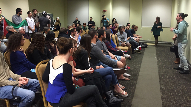 BDS activists disrupt pro-Israel lecture (Photo: StandWithUs)