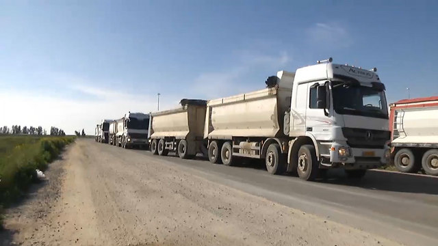 Aid trucks to the Gaza Strip (Photo: Roee Idan) (Photo: Roi Idan)