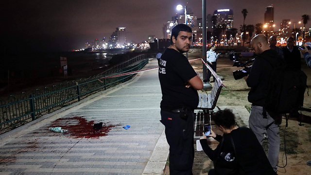 Scene of the attack in Jaffa (Photo: AFP)