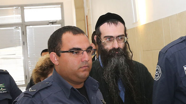 Yishai Schlissel in court (Photo: Ohad Zwigenberg)