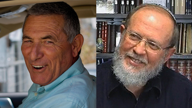 Maj.-Gen. (res.) Doron Almog and Rabbi Eli Sadan, the recipients of the Israel Prize for lifetime achievement (Photos: Yuval Chen, Orot)
