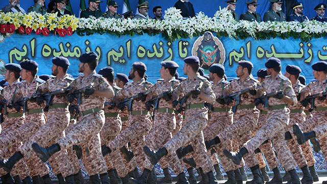 Iran's Revolutionary Guard, during military parade (Photo: AP)