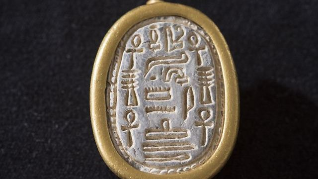 Ancient scarab seal discovered near Mt. Carmel (Photo: Tel Dor Excavations)
