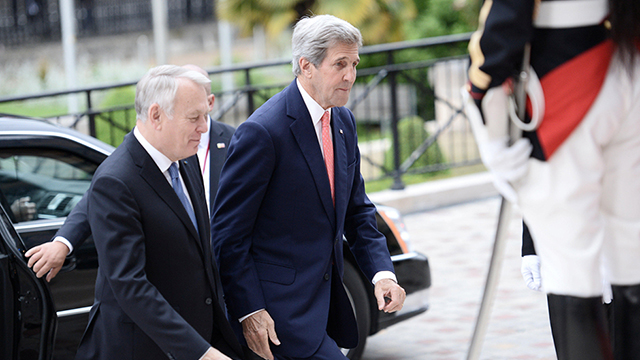 US Secretary of State John Kerry arriving to the Paris conference (Photo: Reuters)