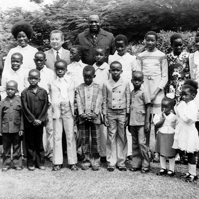 Idi Amin with only a handful of his children