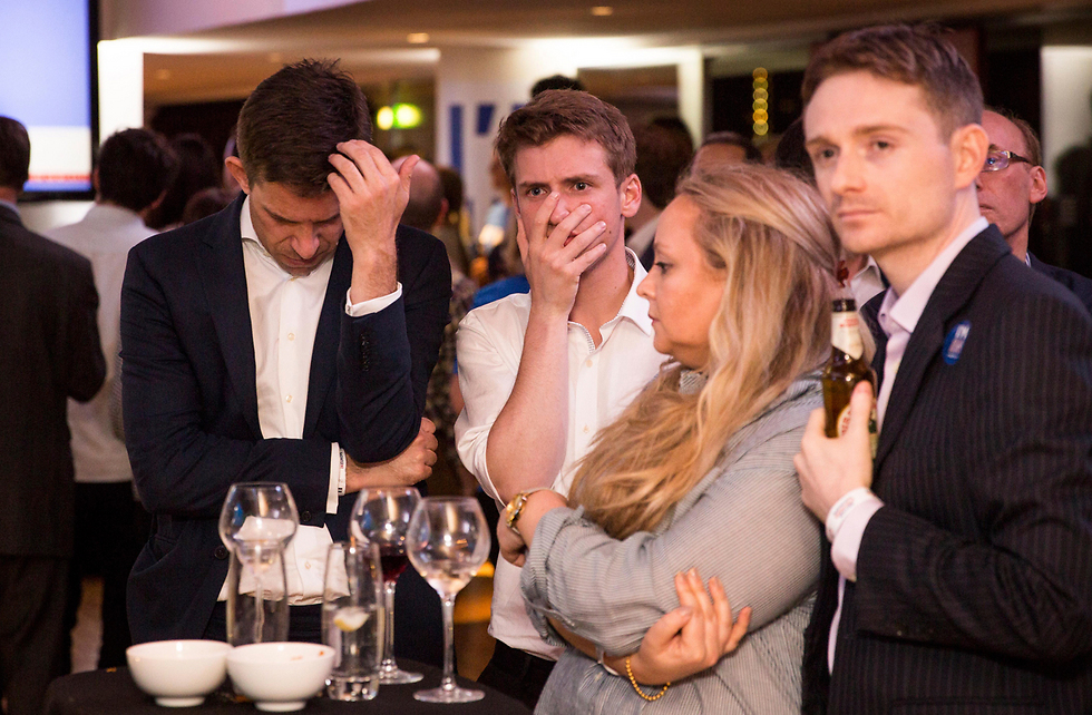 Supporters of remaining in the EU react to results of referendum (Photo: AP)