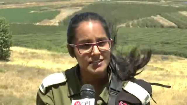 2nd LT. Shirgauoker on the border with Syria