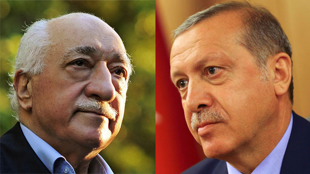 Turkish President Erdoğan (R) and accused leader of the attempted coup Gülen (Photo: AP, Reuters)