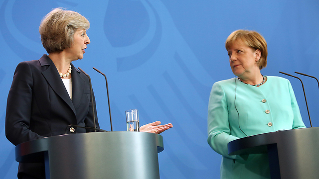 UK PM May and German Chancellor Merkel (Photo: Gettyimages)