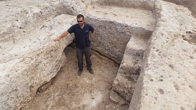 A part of the kiln uncovered in Shlomi (Photo: Courtesy)