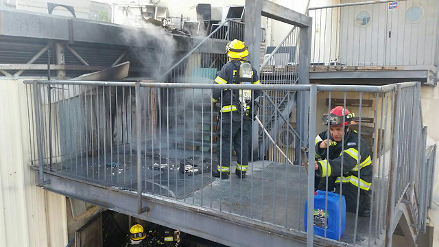 Site of Hoaman Street fire (Photo: Arik Abulof, Jerusalem Fire Brigade)