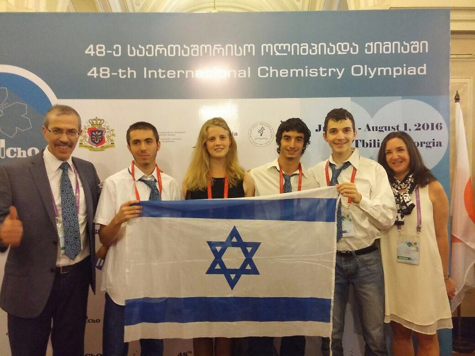 The Israeli team for the Chemistry Olympiad.