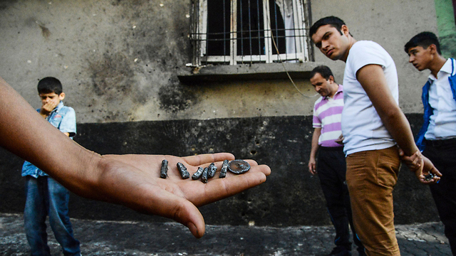 Projectiles from the bomb (Photo: AFP) (Photo: AFP)