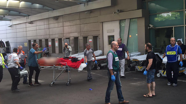 Seriously injured at Ichilov (Photo: Ichilov spokesman)