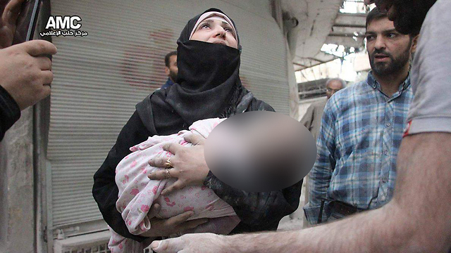 Baby wounded in airstrikes