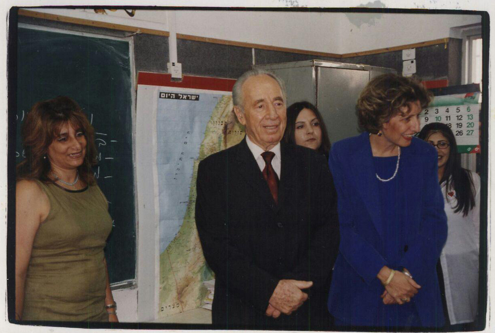 When Peres visited the school in 2000 (Photo: Barel Ephraim)