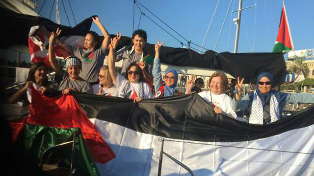 Women on the Zaytouna-Oliva yacht. 'The message will remain long after they are gone, against decision makers' interests.'