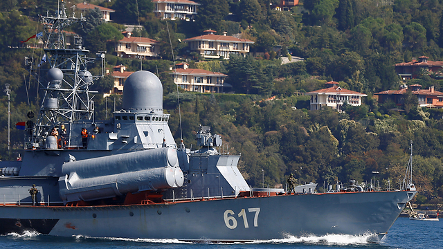 Russian missile boat headed to Syria (Photo: Reuters)