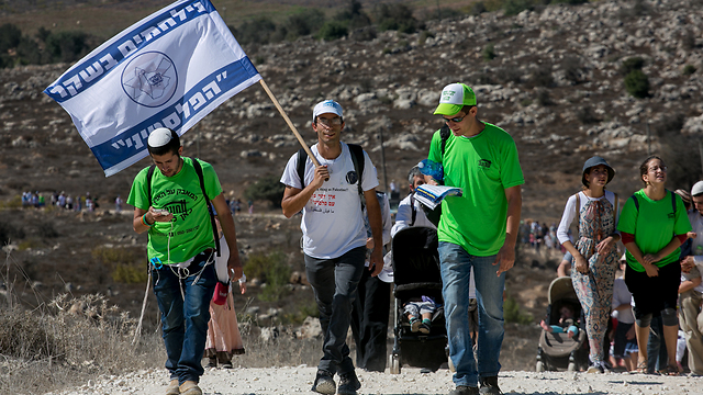 March in support of Amona residents (Photo: Ohad Zwigenberg)