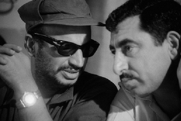 Yasser Arafat with Nayef Hawatmeh (Photo: The Palestinian Mission)