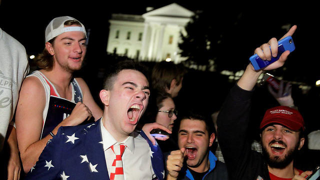 Trump supporters celebrate outside the White House (Photo: Reuters)