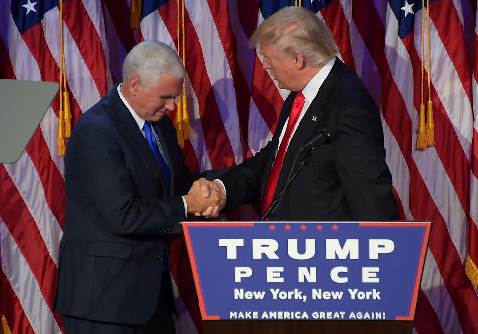 Trump with vice president-elect Mike Pence (Photo: AFP)