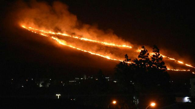 Ring of fire from Nahaf to Sajur (Photo: Fire Service Spokesperson's Unit)