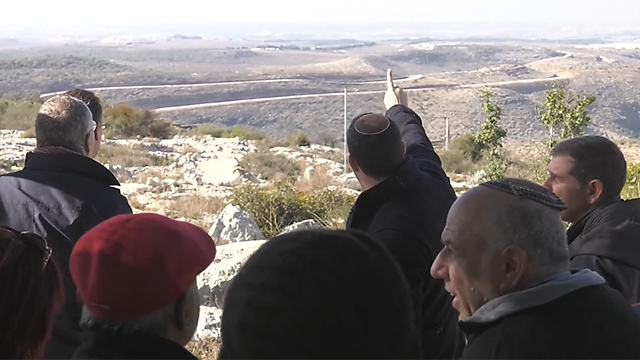 Delegation given a tour of the West Bank