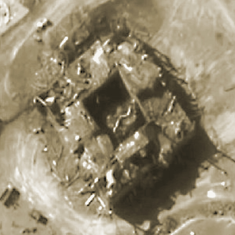 The Syrian nuclear reactor after the strike (Photo: AFP)