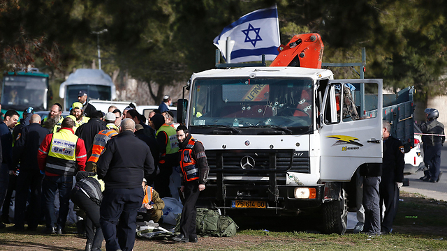 The truck used in the attack (Photo: AFP) (Photo: AFP)