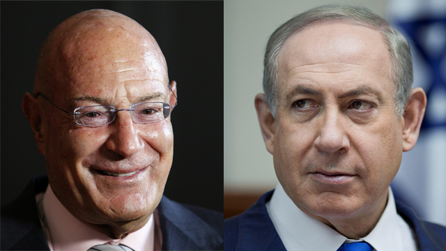 Milchan (L) said he gave his staff 'carte blanche' to supply the Netanyahu couple with gifts (צילום: רויטרס, EPA)