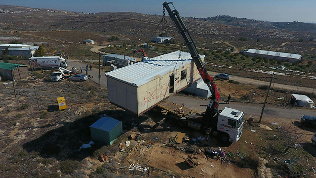 Structures removed from the site of Amona (Photo: Amona Headquarters) (Photo: Mateh Amona)