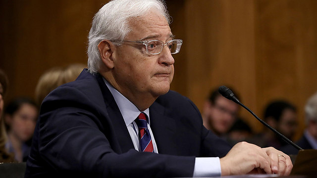 From now on, Friedman will be Trump's mouthpiece, and there is no better person to bring the news to the settlers, as he is one of them (Photo: Reuters)