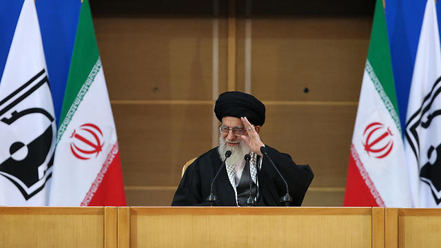 Ayatollah Ali Khamenei in pro-Palestinian convention against Israel (Photo: AFP) (Photo: AFP)
