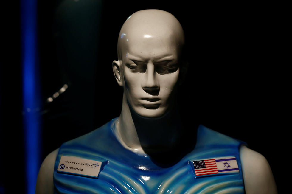 A sculpture of a man wearing Stemrad's new protective vest, Astrorad, is seen at an exhibit at Madatech. (Photo: Reuters)